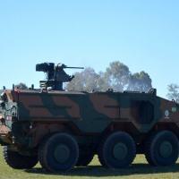 A atividade finalizou com êxito o treinamento específico de atirador de SARC REMAX da VBTP MSR 6×6 Guarani - Crédito: Reus Sabarros