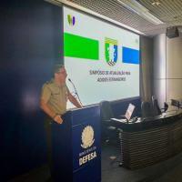 A abertura foi presidida pelo Chefe de Assuntos Estratégicos, General de Exército Eduardo Antonio Fernandes.