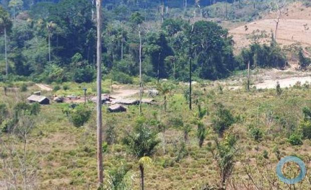 Área de garimpo ilegal em Vila Canopus, interior do Pará