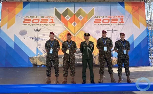 BR-RU - Paraquedistas brasileiros na competição do Army Games 2021 na Rússia