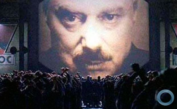 Cena do Filme 1984, que da ficção passará a ser a realidade no Brasil.