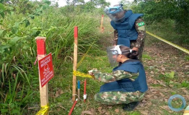 O curso capacita militar para coordenação e chefia dos trabalhos das unidades de desminagem humanitária, dispersas pelo território colombiano.
