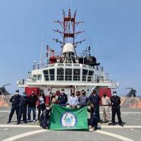 """Pesquisadores do IEAPM a bordo do NPqHo """"Vital de Oliveira"""""""