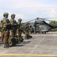 No contexto da Operação Amazônia o 1º BIS (Amv) realizou o assalto aeromóvel na região de Balbina, município de Presidente Figueiredo e o tiro de morteiro 81mm na região do JUMA (proximidades da BR-319). - Crédito: 1º BIS (Amv)