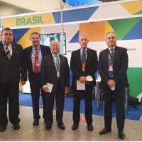 O ministro da Energia e demais membros da delegação brasileira à AIEA