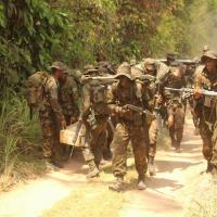 O exercício focou na prática onde os soldados e comandantes de fração, imersos no ambiente operacional amazônico - Fonte: 50° Batalhão de Infantaria de Selva