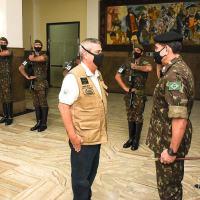 Com a agenda repleta de compromissos no Rio Grande do Sul, o Ministro da Defesa, Walter Souza Braga Netto, foi recebido, na quarta-feira (22), no CMS