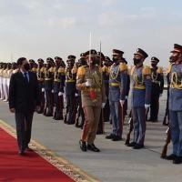 VP Mourão desembarcou na segunda-feira no Cairo sendo recebido pelo 1º Ministro Mostafa  Madbouly