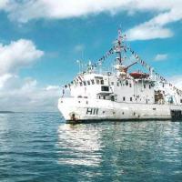 Navio fundeado em Valença (BA)