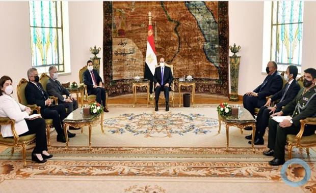 Egyptian president and Brazilian VP discussed cooperation