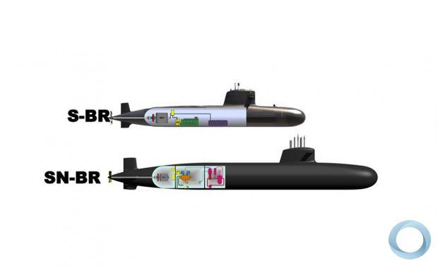 Brazilian Navy S-BR  andthe future Alvaro alberto SN-BR (SSN) comparison