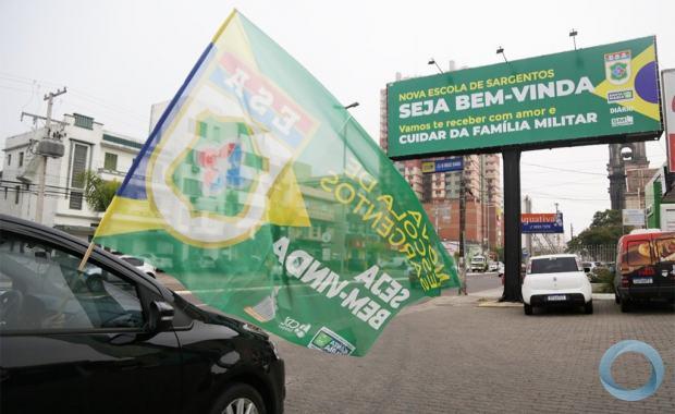 Movimentação em Santa Maria em apoio à ESA - Foto Diário de Santa Maria