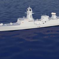 Arte conceito do Project-18 o Next-Generation Destroyer