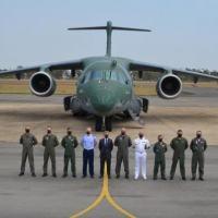 Tripulantes da Força Aérea Portuguesa (FAP) iniciaram, na sexta-feira passada (8), na Base Aérea de Anápolis (BAAN), em Goiás (GO), os voos da fase básica na aeronave KC-390 Millennium.