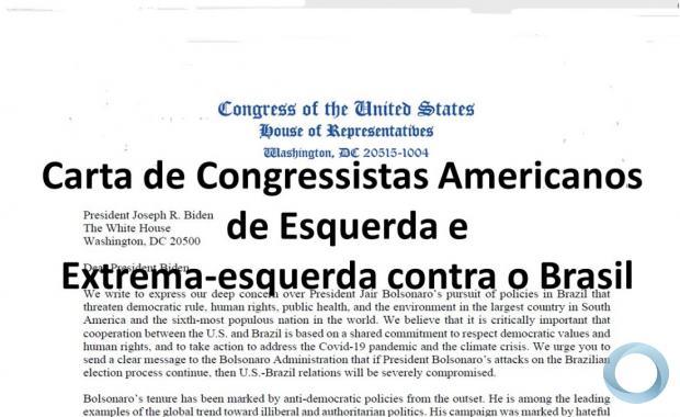 Carta Enviada ao Presidente Biden contra participação do Brasil na OTAN