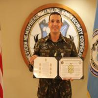 O Subtenente de Infantaria Flavio Alexandre de Luna, no dia 7 de outubro, assumiu a função de Command Sergeant Major International