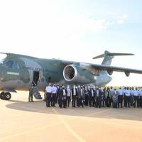 O Chefe do EMAER falou do objetivo da visita e da importância de apresentar os dois projetos estratégicos da Força Aérea: KC-390 Millennium e F-39 Gripen