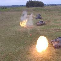 Um pelotão de carros de combate do regimento e um pelotão de carros de combate do 4º Regimento de Cavalaria Blindado (4º RCB) concluíram a fase de adestramento
