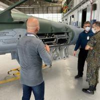 O primeiro enlace de dados entre aeronaves de caça F-5M utilizando o Sistema Link-BR2, foi realizado no dia 13 de outubro, no 1°/14° GAV - Pampa,
