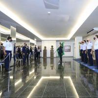 A solenidade, presidida pelo Chefe do EMAER, Tenente-Brigadeiro do Ar Marcelo Kanitz Damasceno, foi marcada por homenagens ao efetivo da Organização Militar.