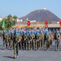 A solenidade foi realizada na Base Militar General Alemán Ramirez, sede do Comando da Brigada Canárias XVI