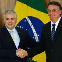 Presidente Ivan Duque, da Colômbia e Jair Bolsonaro do Brasil, Palácio do Planalto, 19 Outubro 2021. Foto Agência Brasil