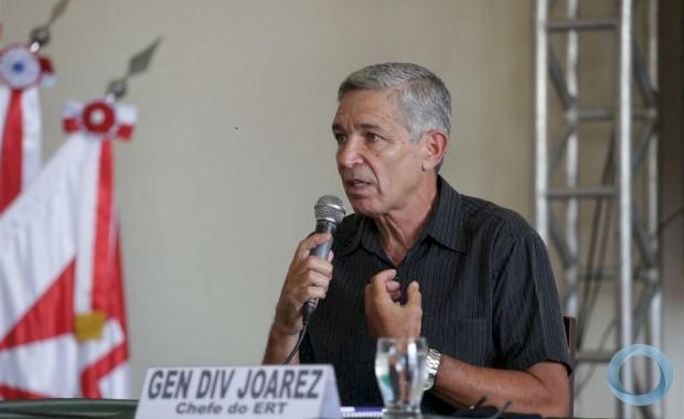 Não compartilharam nem comigo, que sou o coordenador do projeto', Afirmou oo Gen Div R1 Joarez - Foto: Pedro Piegas /DiárioSM