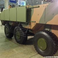 O Guarani com blindagem GAIOLA, especial contra sistemas com munição carga oca como os RPGs e a maiorias dos misseis anticarro
