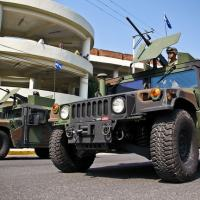 M1151 Enhanced Armament Carriers, which are upgraded versions of the HMMWVS (Humvees), are used by El Salvador's Army in its operations against the MS-13 (Mara Salvatrucha), M-18 (Barrio 18) and other street gangs. [Photo: El Salvador's Army]