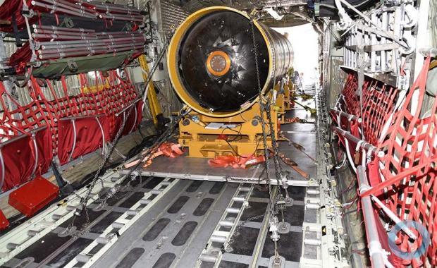 IAE realiza operação de embarque e voo local do motor foguete S50 na aeronave C-130  Foto - Seção de Comunicação Social / IAE